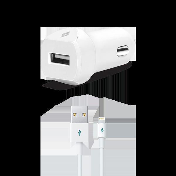Ttec SpeedCharger Araç Şarj Aleti 2.1A  Kablolu iPhone Beyaz